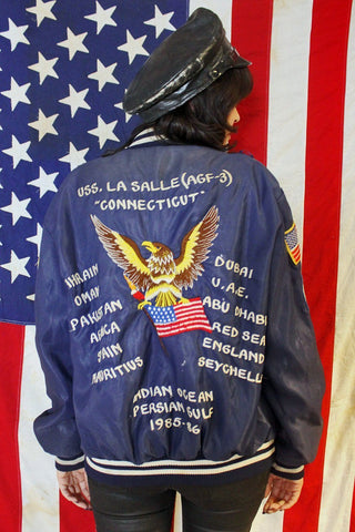 US Six Fleet Power For Peace 1985-1986 Patched Jacket