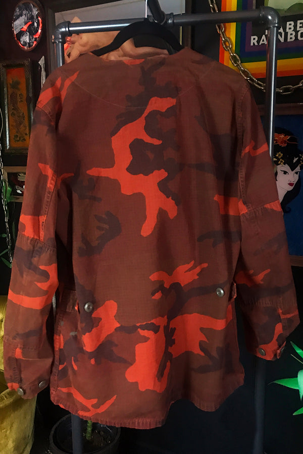 1960s Thin & Worn Overdyed Copper Camo Army Jacket, Outerwear, BACKBITE, BACKBITE