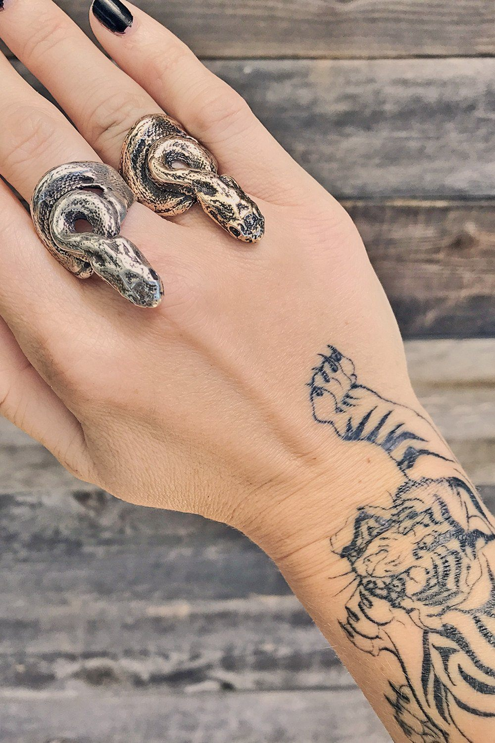 PRE-ORDER The Ishta Snake Ring By Earthling Jewelry, Jewelry, Earthling, BACKBITE