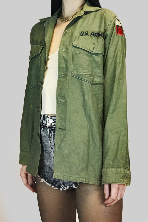 Thin & Worn Patched Army Jacket