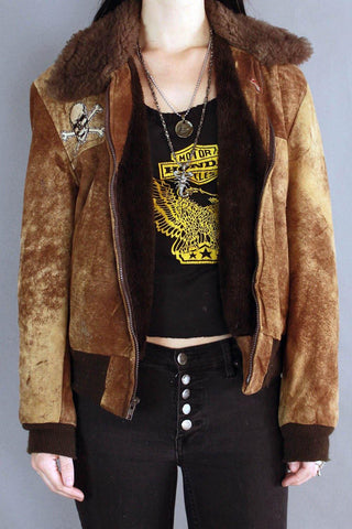 In The Wild Suede Shearling Vintage Jacket