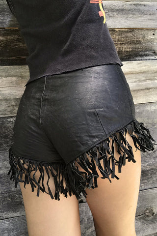 The BEST Buttery Leather Fringe Hot Shorts (Rare As Hell!)