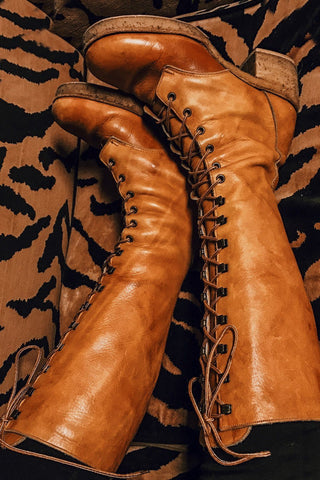 Incredible Zodiac Lace-Up Buttery Leather Boots