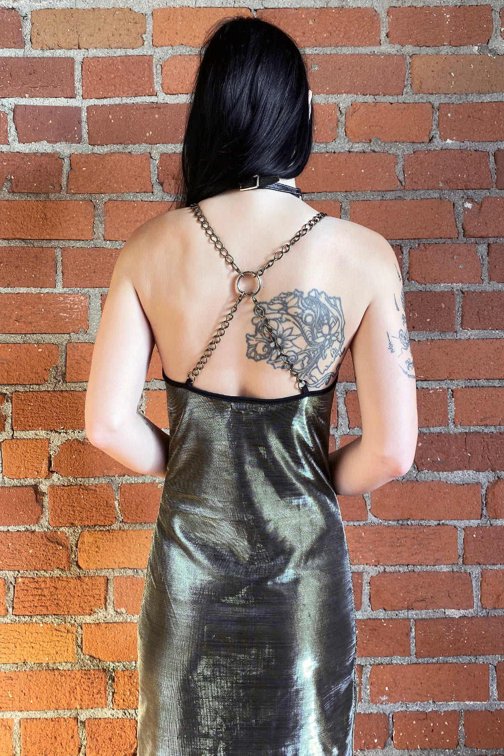 The Angelina Chain Dress・Metallic Silver Gold, Dresses, BACKBITE, BACKBITE