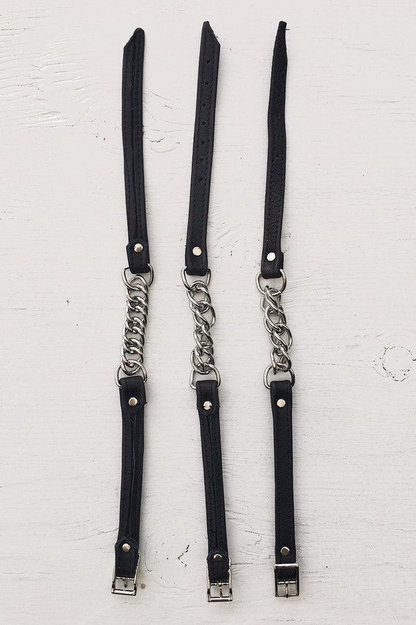 Leather and Chain Chokers by Hell Bent Leather, Accessories, Hell Bent Leather, BACKBITE