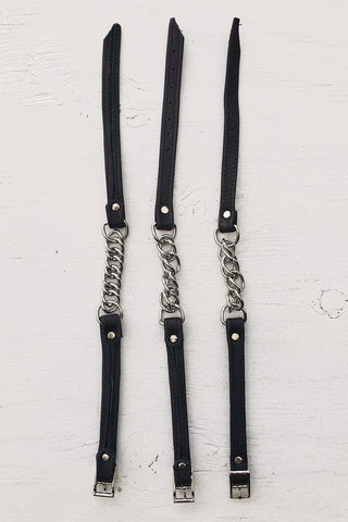 Leather and Chain Chokers by Hell Bent Leather