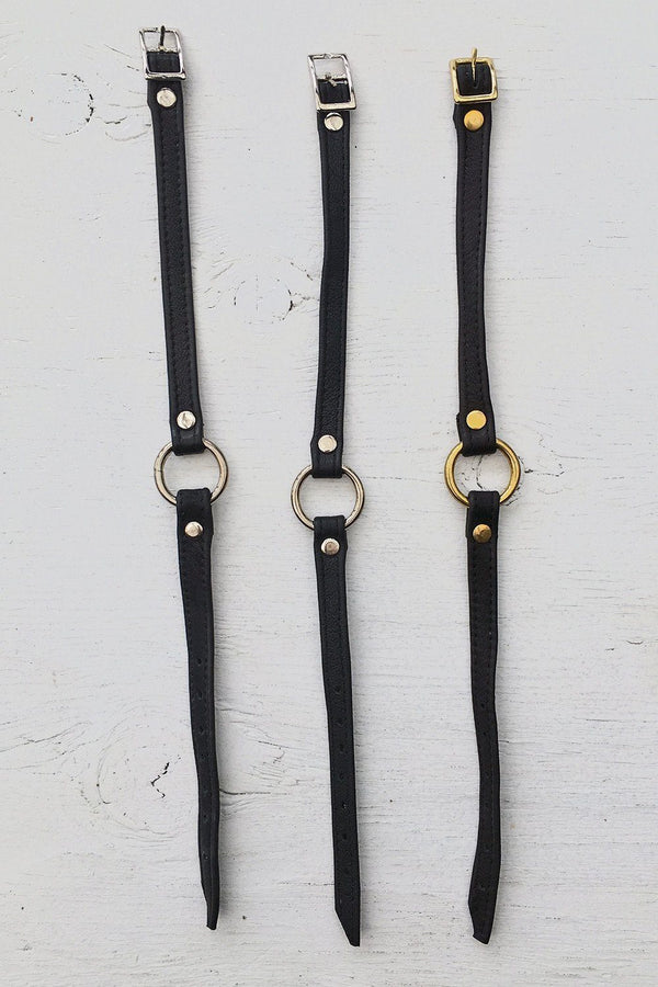 Leather O-Ring Chokers by Hell Bent Leather, Accessories, Hell Bent Leather, BACKBITE