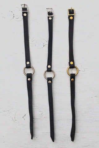 Leather O-Ring Chokers by Hell Bent Leather
