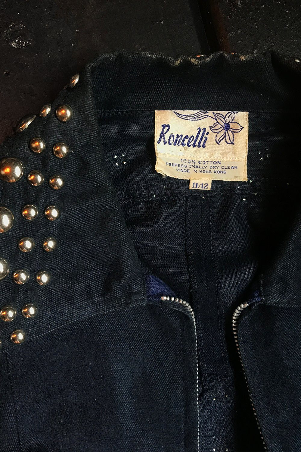 1970s Authentic Fully Studded Roncelli Jacket, Outerwear, BACKBITE, BACKBITE