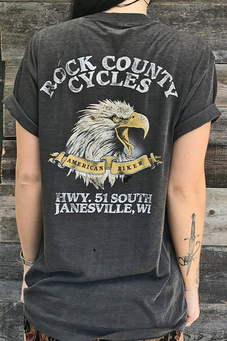 1987 Rock County Cycles Paper Thin 'N Buttery Soft Rare Harley 50/50 Tee