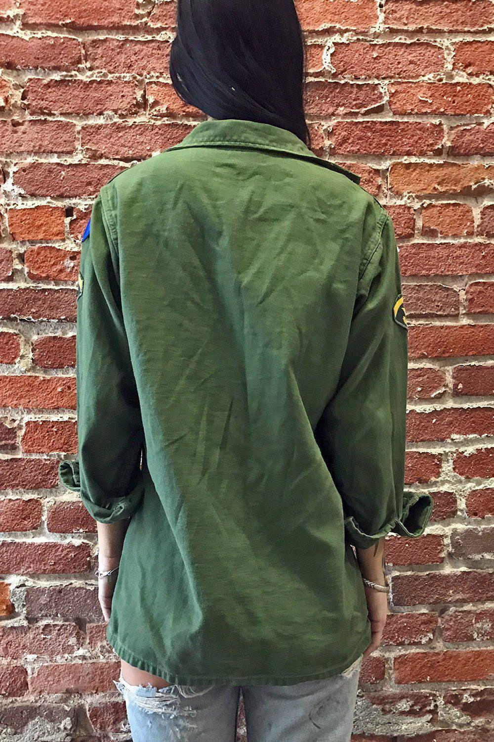 Thin & Worn Patched US Army Jacket