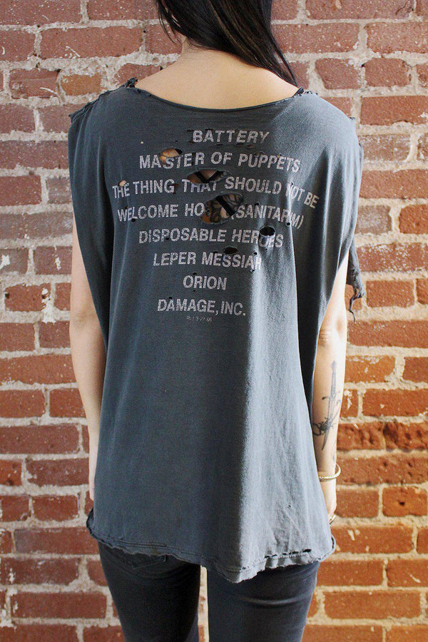 1987 Metallica Destroyed Master of Puppets Tee