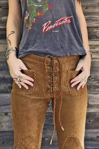 Authentic RARE 1960s North Beach Leather Whipstitched Pants
