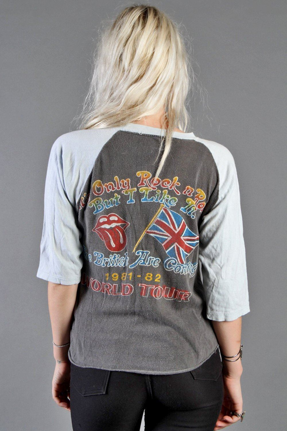 It's Only Rock 'n Roll • Rare '81 Rolling Stones Double-Sided Raglan