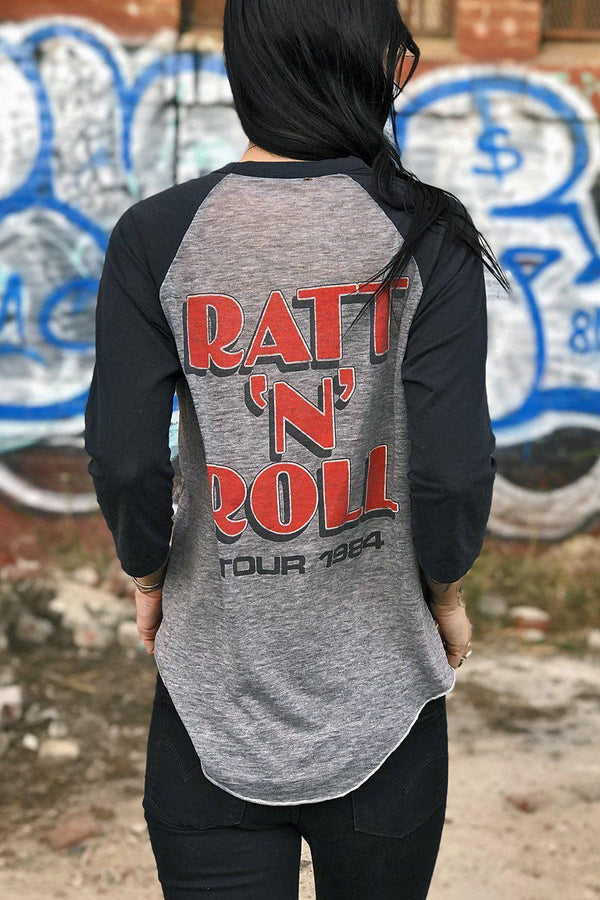 1984 Insanely Amazing Tissue Thin RATT Tour Raglan