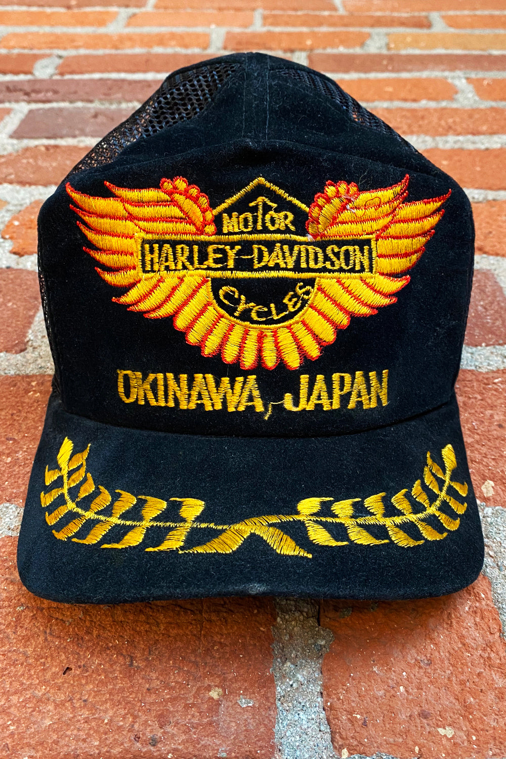 Harley Davidson Okinawa Japan Embroidered Snap-Back Hat, Accessories, BACKBITE, BACKBITE