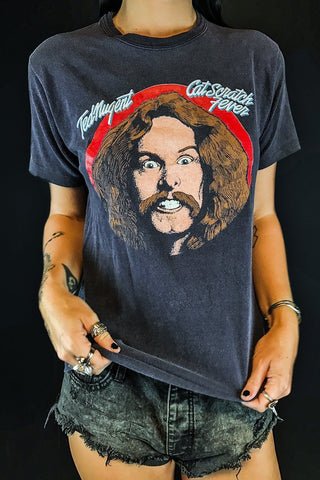 Authentic 1970s Ted Nugent Cat Scratch Fever Soft 'N Faded Tee