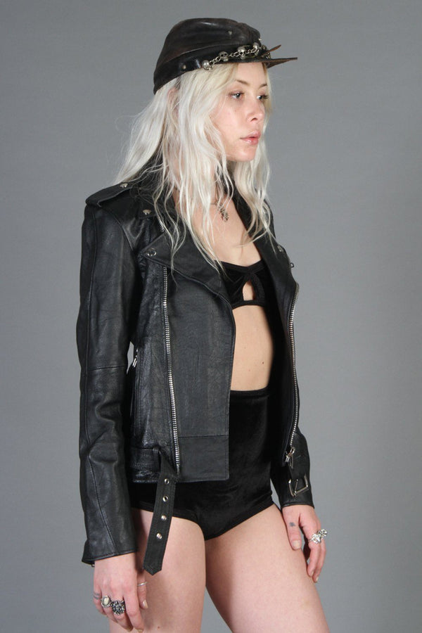 *Last One!* DEADWOOD Recycled Leather Buttery Soft Biker Jacket (Size S), Outerwear, Deadwood, BACKBITE