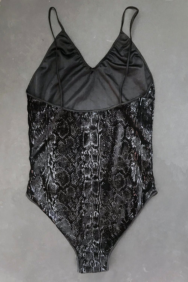 The Mirage Bodysuit in Onyx Cobra Size S *ONLY 1 AVAILABLE!*, One Piece, BACKBITE, BACKBITE