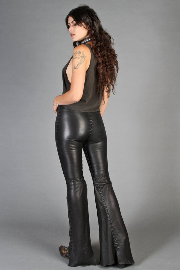 - La Grange - Handcrafted Custom Deerskin Pants by Leslie Crow, bottoms, Leslie Crow, BACKBITE