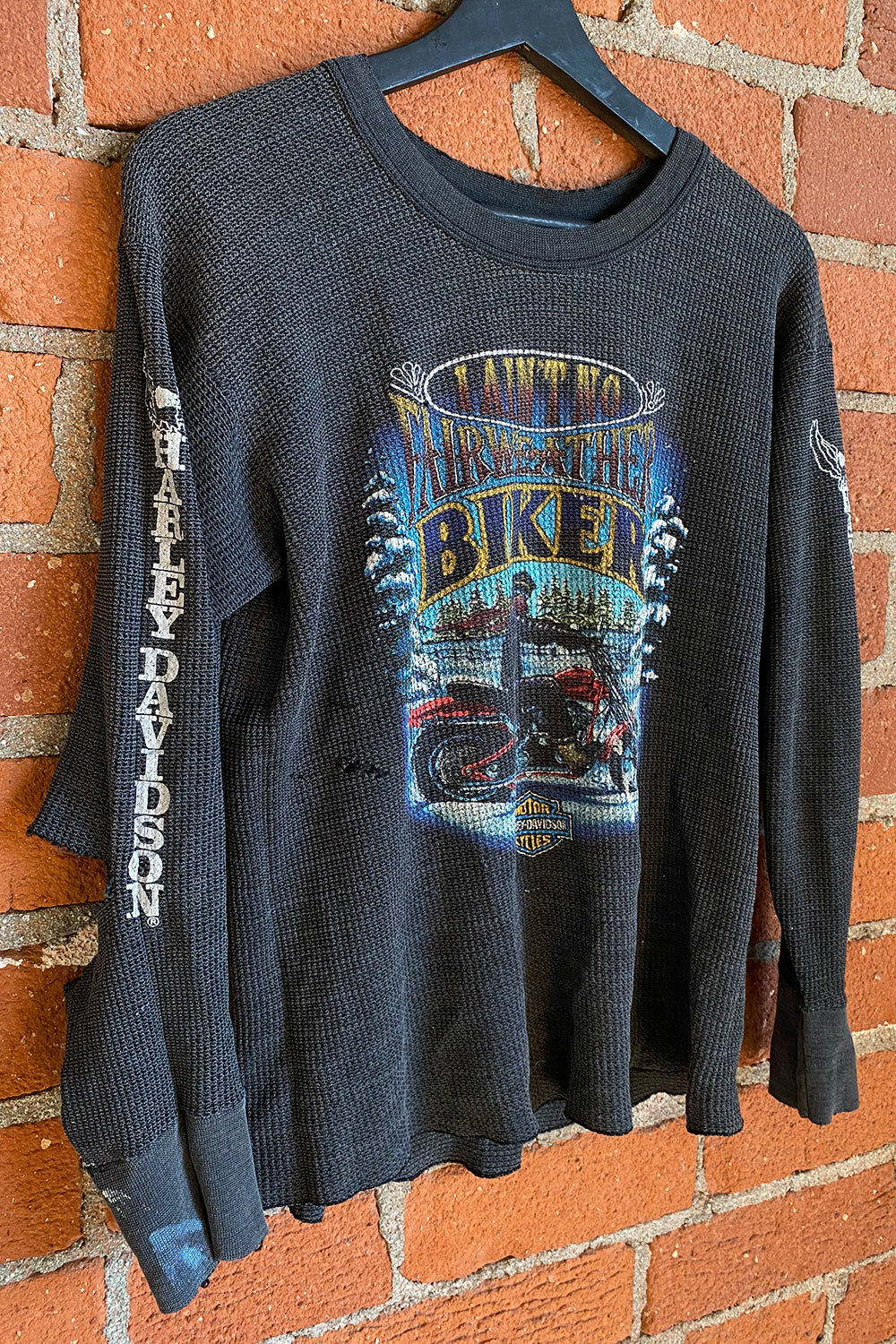 1982 Thin 'N Faded Harley Davidson 50/50 Thermal, Outerwear, BACKBITE, BACKBITE