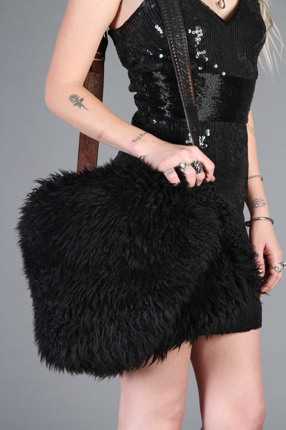 Wicked Lady Large Fluffy Sheepskin Bag
