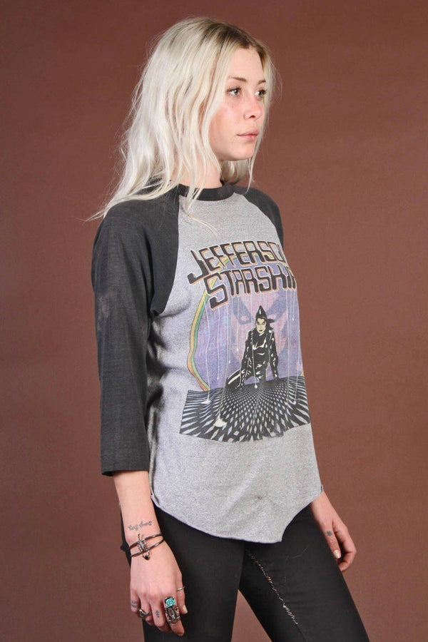 1980s Jefferson Starship Paper Thin Baseball Tee