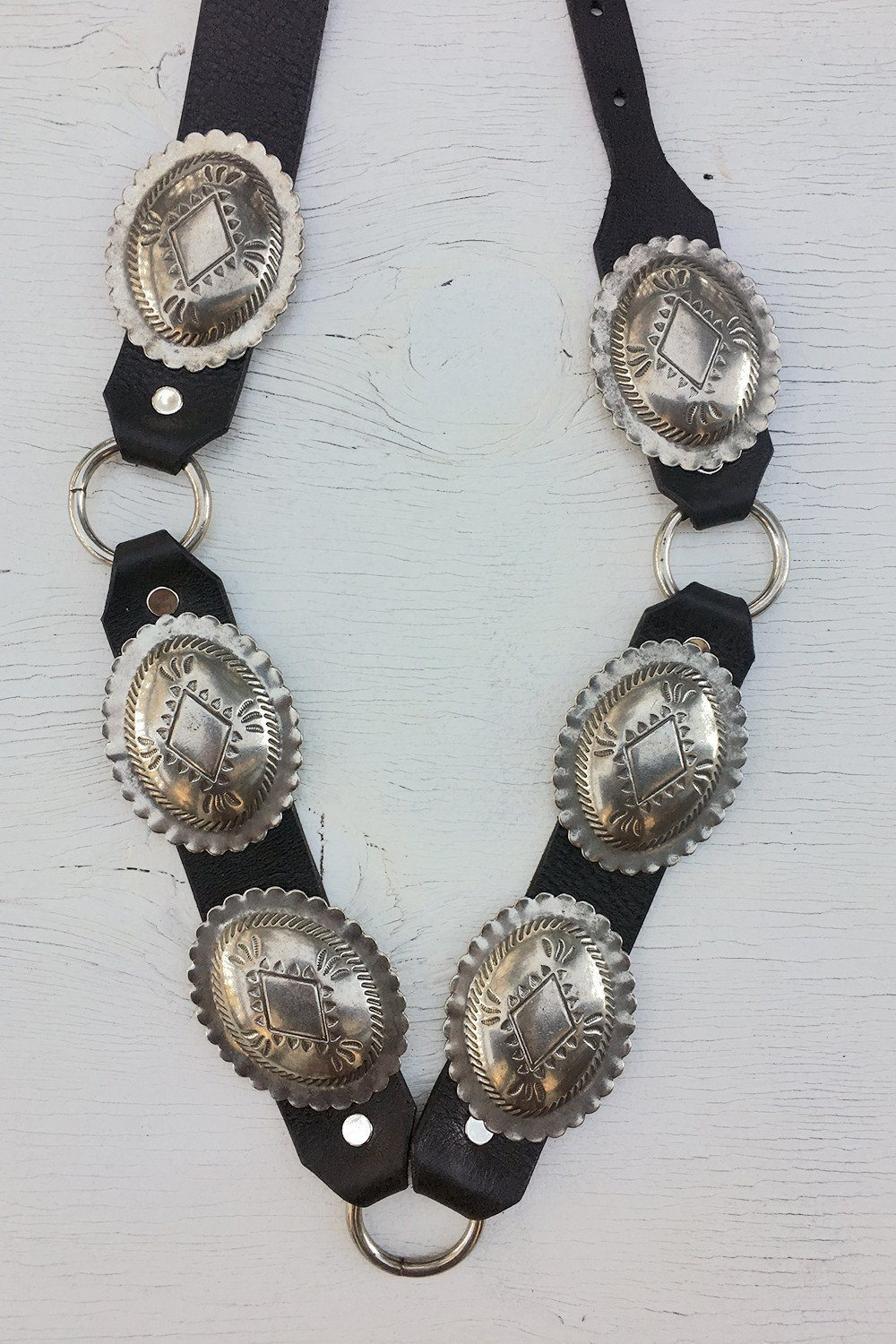 Black Leather Solid Concho Belt by Hell Bent Leather (Various Sizes Available), Accessories, Hell Bent Leather, BACKBITE