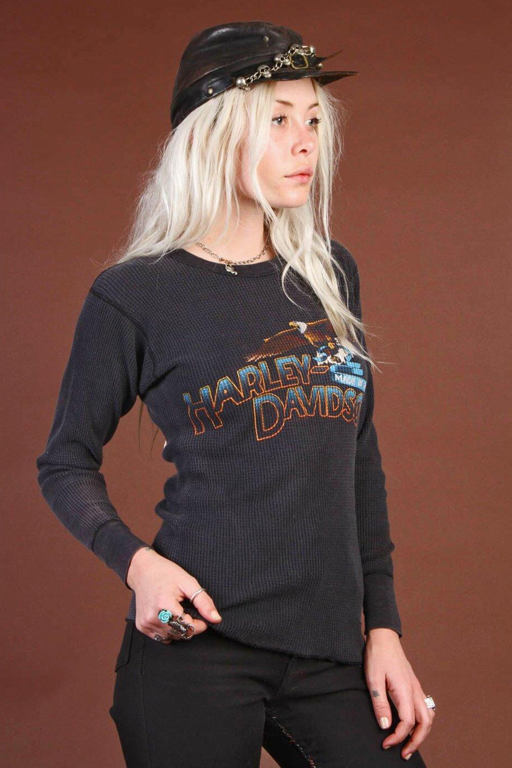 Soft 'N Faded Double-Sided Harley Waffle Knit Thermal
