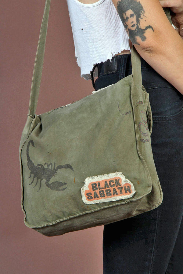 Black Magic Woman • Vintage Soviet Army Canvas Bag