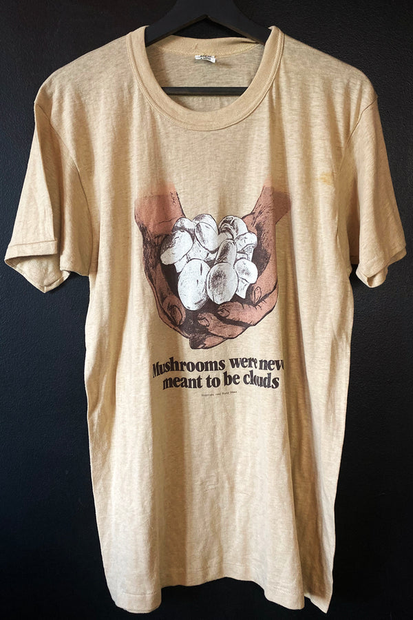 "1970s ""Mushrooms Were Never Meant To Be Clouds"" Thin N Soft 50/50 Tee, Tops, BACKBITE, BACKBITE"