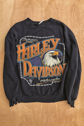1989 Milwaukee's Finest Harley Davidson Soft 'N Thin 50/50 Sweatshirt