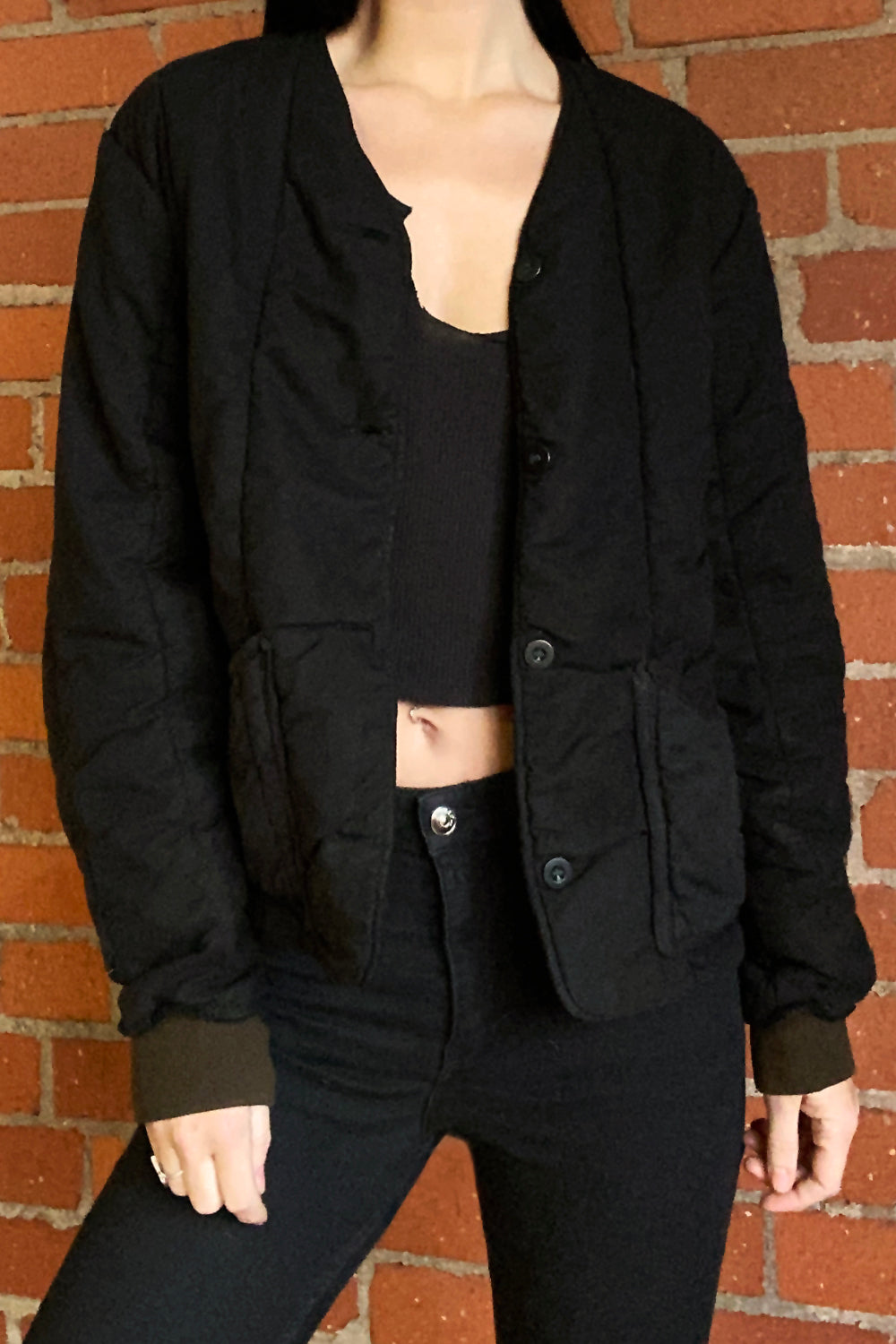 1960s Quilted Czechoslovakian Overdyed Army Jacket, Outerwear, BACKBITE, BACKBITE