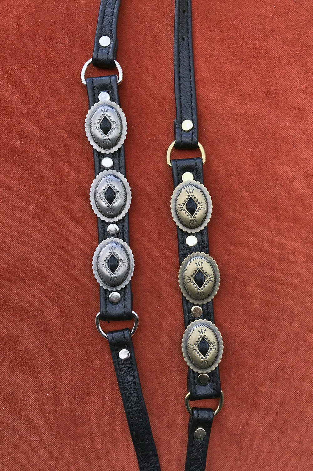 Black Leather Concho Chokers by Hell Bent Leather, Accessories, Hell Bent Leather, BACKBITE