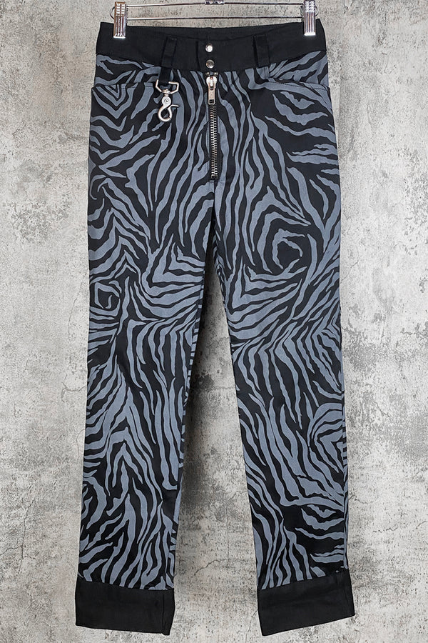 Trainspotting Zebra Cropped Skinny Pants | In Stock