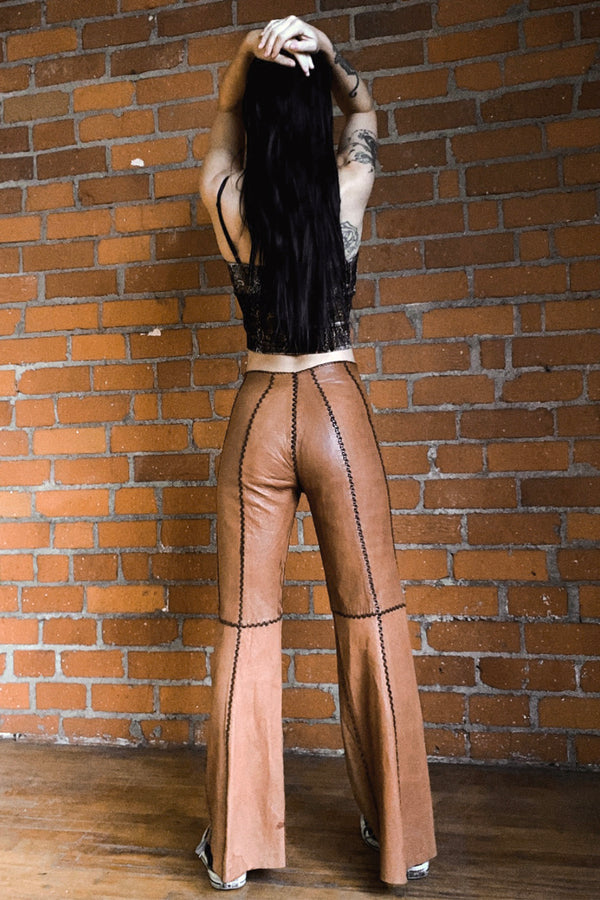 Beautiful Rare & Authentic 1960s North Beach Leather Pants, bottoms, BACKBITE, BACKBITE