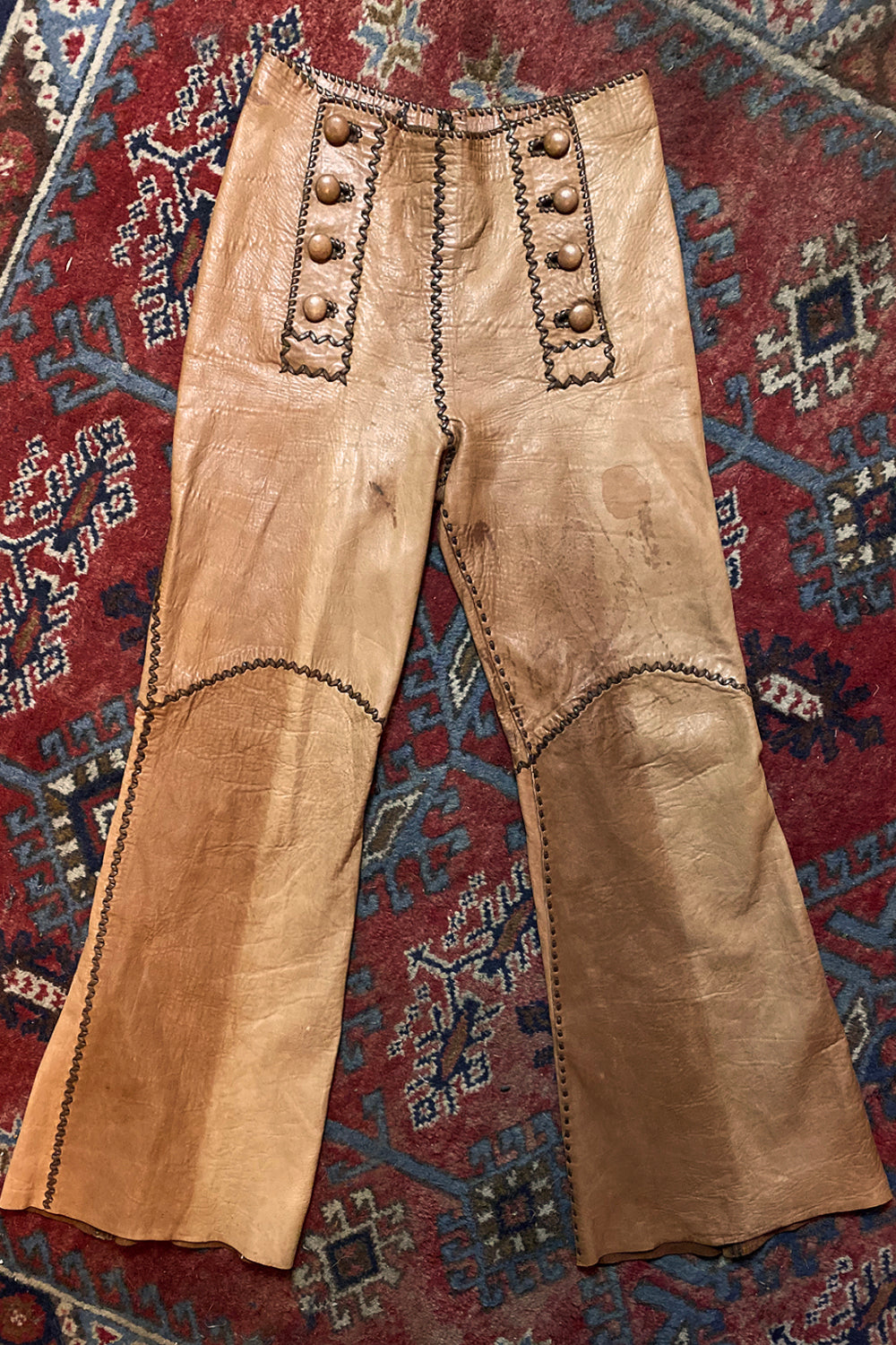 Beautiful Rare & Authentic 1960s North Beach Leather Pants