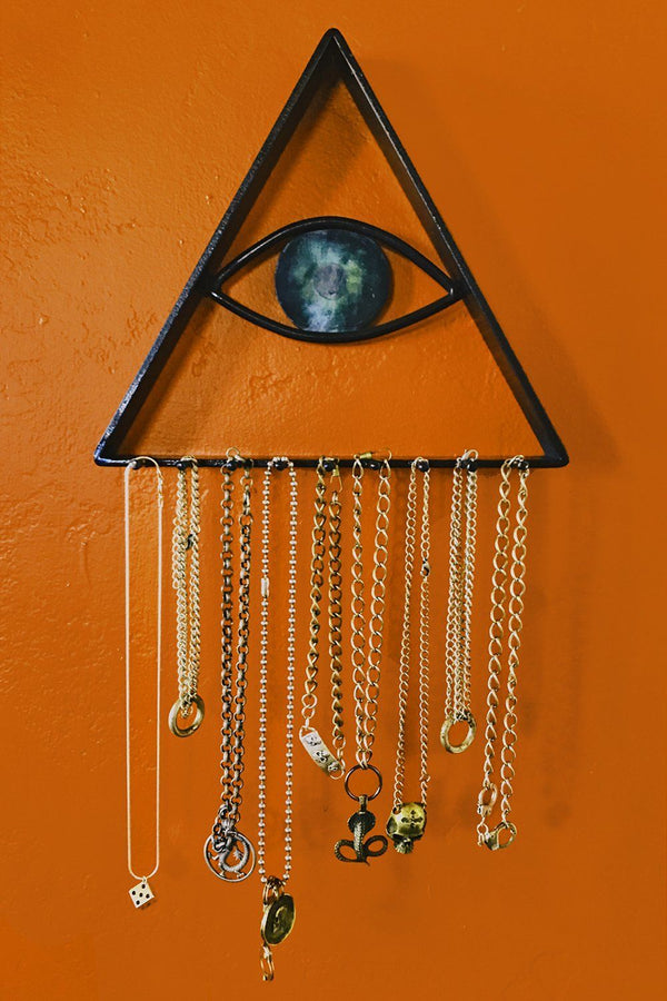 Junkyard x Backbite Handcrafted Steel and Patina Seeing Eye Jewelry Hanger
