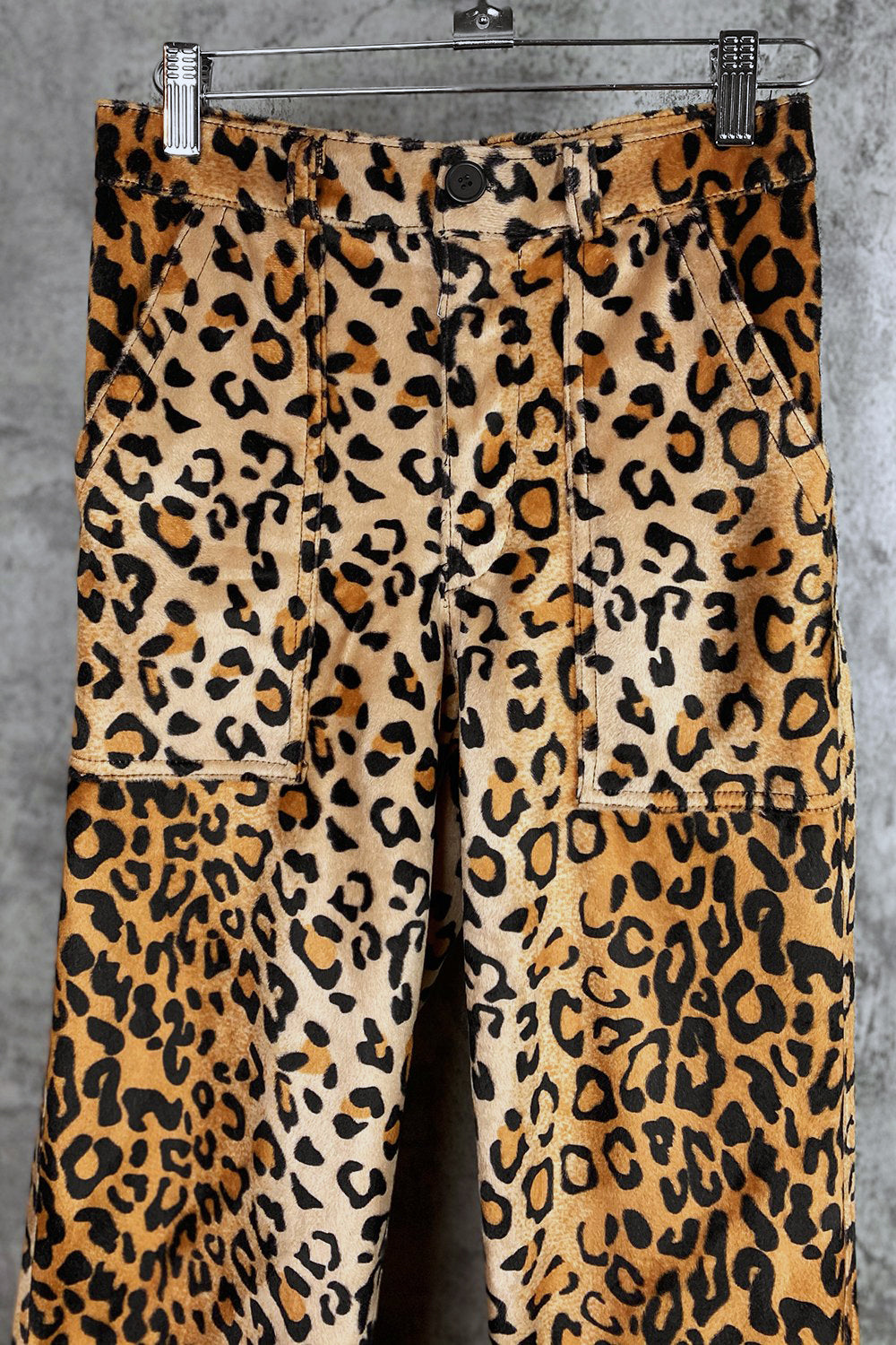 OG-107 Utility Pants: Leopard Velboa | Made To Order
