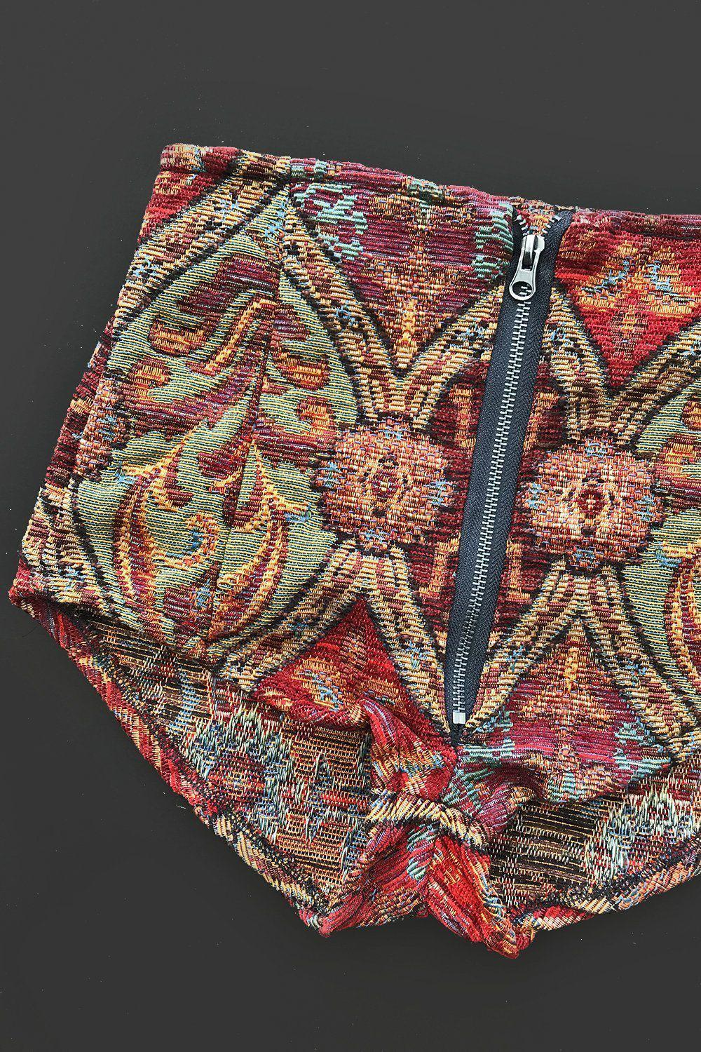 *In Stock Now!* Eye Of The Tiger Tapestry Shorts Size XS, bottoms, BAD VIBES, BACKBITE