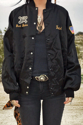 "US Army Black Lions ""Ghost Riders"" Bomber Jacket"