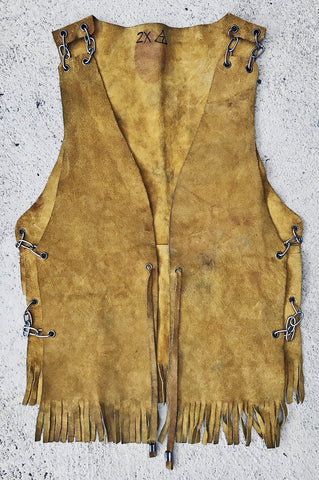 Chain Gang Yellow Suede Vest (Held Together With Chains!)