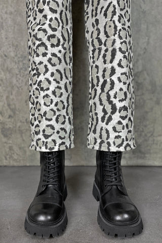Trainspotting Cuffed Skinny Pants: Leopard/Plaid | Sizes 25, 26 ,27 In Stock