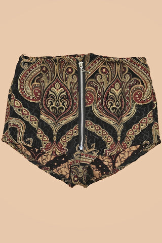 *In Stock Now!* The Dark Serpent Tapestry Shorts (Size XS)