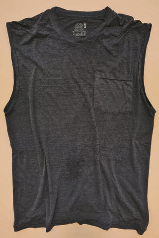 Tissue Thin 50/50 Faded Black 50/50 Muscle Tee