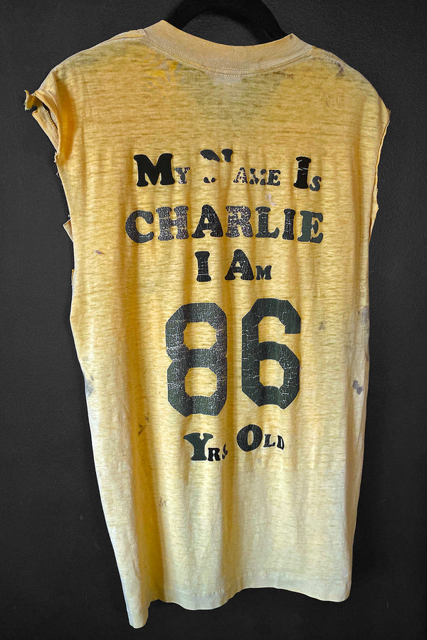 1986 Charlie's Threadbare 'N Thrashed Sleeveless 50/50 Tee, Tops, BACKBITE, BACKBITE