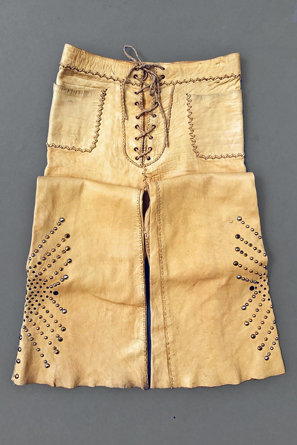 Extremely Rare 👑 1960s OOAK Studded North Beach Leather Whipstitched Leather Pants