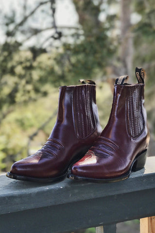Oxblood Perfect Mexican Chelsea Boots