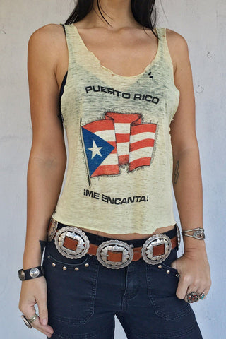Totally Thrashed Paper Thin Puerto Rico Tank