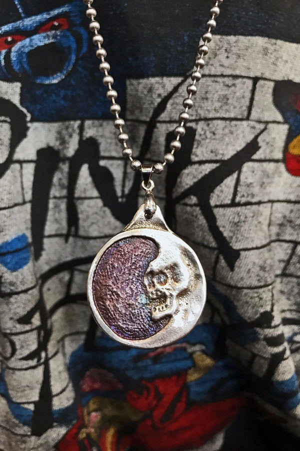 PRE-ORDER Sterling Silver Dead Moon Necklace by Trippy Tree, Accessories, trippy tree leather, BACKBITE